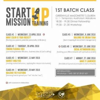 Follow up Start Mission Up: 1st Batch Class
