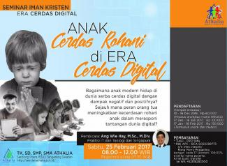 "Seminar IT: ""Anak Cerdas Rohani di Era Cerdas Digital"""